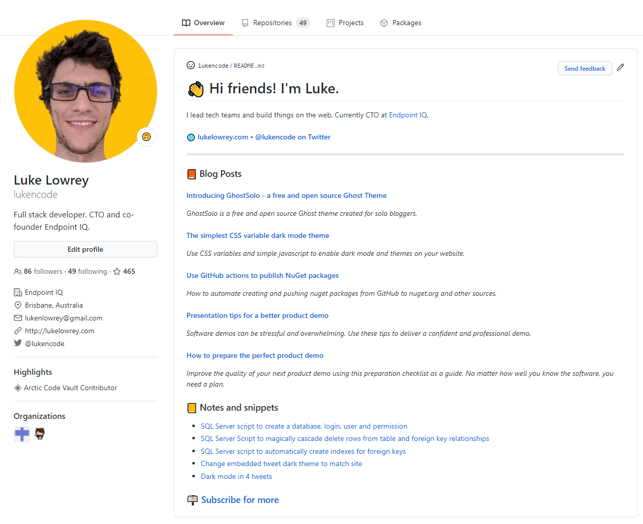 GitHub action to automatically add blog posts to your profile